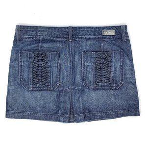 Citizens of Humanity Pleated Denim Mini Skirt